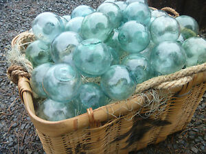 Japanese Glass Fishing Floats 3 3 5 50 Buoy Balls Varied Shades Authentic Vtg