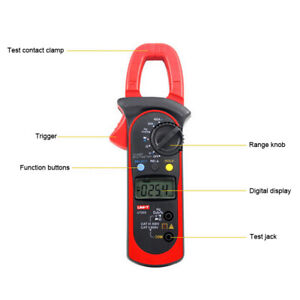 1 Pc Ut203 400a Digital Lcd Clamp Meter Multimeter Ac Voltage Dmm Tester 600a
