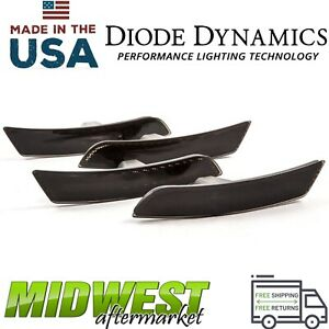 Diode Dynamics Smoked Led Sidemarkers Set Of Four For 2016 2019 Chevrolet Camaro