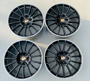 Porsche Panamera Sport 20 Factory Oem Rim Wheels Staggered Set Of 4 67417 67418