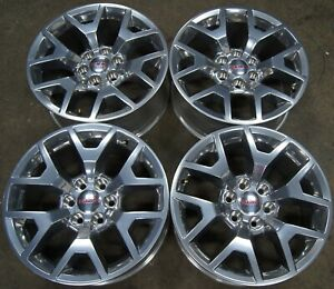 Nice Gmc Yukon Xl Sierra Denali Factory Oem Polished 20 Wheels Rims 5698 1630