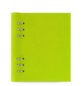 Green Filofax A5 Size Clipbook Leather look Refillable Notebook Diary Book Pear
