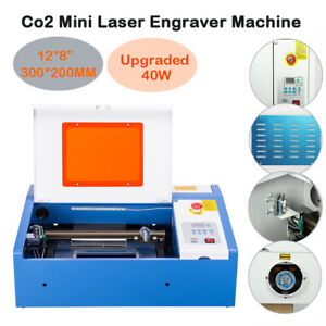 Upgraded 40w Co2 Laser Engraver Cutting Machine With Panel Control 12 8