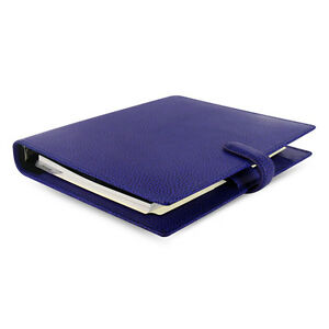 Fashion Filofax A5 Finsbury Organiser Planner Diary Book Electric Blue Leather
