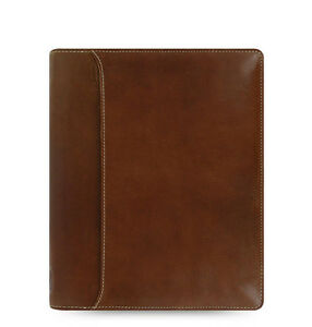 Filofax A5 Size Lockwood Zip Organiser Diary Book Cognac Leather 021693