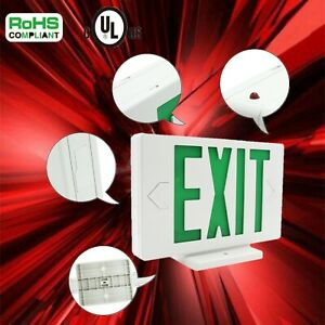 1 2 4 6pcs Led Emergency Green Exit Sign Light Modern Battery Backup Indoor New