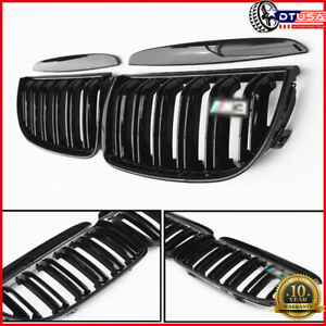 M3 style Dual Fin Grill Grille For Bmw3 Serires E90 E91 2005 08 Pre facelift