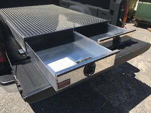 Bb72lp 2 Drawer Truck Bed Tool Box By Hmf 72 Long X 48 Wide X 7 1 2 Tall