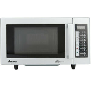 Amana Rms10ts Stainless Steel Commercial Microwave With Push Button Controls 1