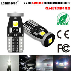 T10 Samsung 3030 3 Smd W5w Canbus Error Free White Led Lights 168 194 2825 Bulbs