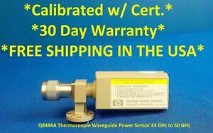 Agilent Hp Keysight Q8486a Thermocouple Waveguide Power Sensor 33ghz 50ghz Cald