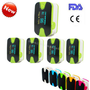 5pcs Fingert Pulse Oximeter Blood Oxygen Spo2 Pr Monitor Oled lanyard Us Fda
