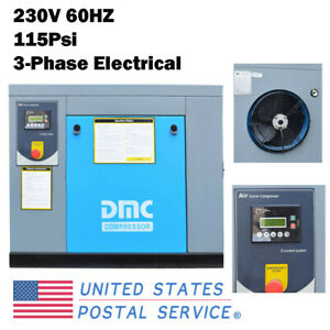Hpdmc 10hp 115psi Rotary Screw Air Compressor 39cfm 230v 60hz 3 phase Industry