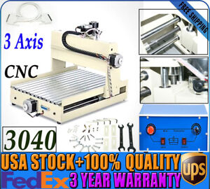 3 Axis 3040 Cnc Router Engraver Engraving Drilling Machine Desktop Cutter 400w