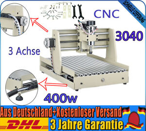 3 Axis 3040 Cnc Router Engraving Miniature Carving Machine Woodwork Desktop 400w