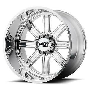 Moto Metal Mo402 20x10 Wheel With 8 On 6 5 Bolt Pattern Polished
