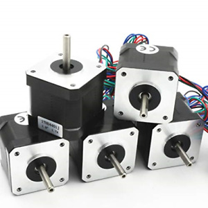 5pcs Nema 17 Stepper Motor 40mm 64oz in 45ncm 1 7a 1 8 Degree 2 Phase With 1m