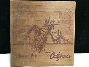 Vintage Mission Pak Candied Fruit Box Dovetailed Redwood 11 X 11