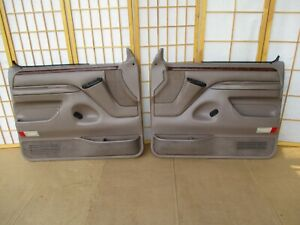 92 96 Bronco Or F150 F250 F350 Pickup Left Right Tan Eddie Bauer Door Panel Set