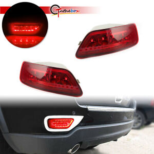 2pcs Red Lens Led Rear Fog Light Lamps For 2011 2015 Jeep Grand Cherokee Hot