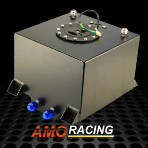 5 Gallon 19l Black Polished Aluminum Racing drift Fuel Cell Tank