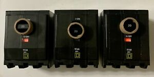 lot Of 3 new Square D Qob320 3 pole 20 Amp Circuit Breaker Ships Today warranty