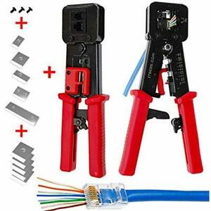 Itbebe Rj45 Crimping Tool Made Hardened Steel Wire Cutter Stripping Blades Grips