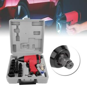 Pro 17pcs 1 2 Twin Hammer Air Impact Wrench Gun Set W Sockets Us Adapter