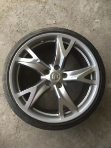 09 12 Nissan 370z Front Wheel Rim Rays Forged 19 W Tire Oem 19x9