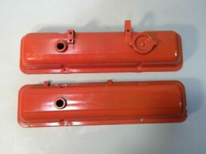 Vintage Chevy Small Block V 8 Engine Valve Covers E2