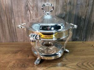Vintage Godinger Silverplate Silver Plate Chafing Dish H6
