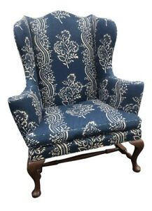 Vintage Kittinger Cw 44 Colonial Williamsburg Mahogany Wing Chair