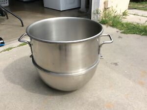 Vintage Hobart Vmlhp40 Stainless Steel Mixer Bowl 40 Quart Oem 17 d X 16 T