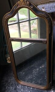 Vintage French Or Italian Gold Gilt Carved Wood Mirror