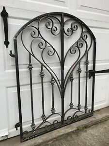 French County Iron Scroll Garden Gate