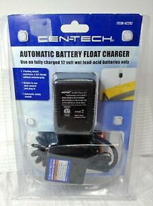 Cen Tech Automatic Battery Float Charger New 12 Volt Wet Lead Acid Only