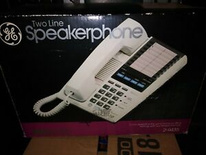 General Electric Proseries 2 9435 White 2 Line Speaker Display Phone 4 Business