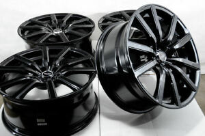 18 Black Wheels Fits Accord Mazda 3 6 Is250 Optima Rsx Civic Mustang Forte Rims