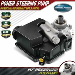 Power Steering Pump W O Pulley For Buick Allure Chevy Impala Pontiac Grand Prix