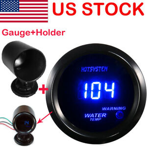 Hotsystem Blue Led Digital Fahrenheit Water Temp Temperature Gauge Pod Us