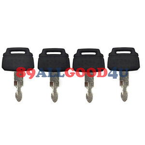4x Heavy Equipment Key K250 Fits Case Kawasaki Kobelco Excavator