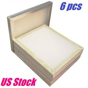 6 Pack Aluminum Frame Silk Screen Printing Screens 18 X 20 160 Mesh Count