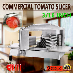 Commercial Tomato Slicer Cutter 3 16 Aluminum Frame Industrial Food Processing