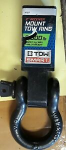 Tow Smart 2 Receiver Mount Tow Ring 8000 Lb Rugged 7 1 2 Steel Mount W Shackle