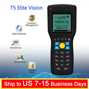 T5 Elite Vision Wireless 433mhz 1d Barcode Scanner Data Collector Inventory Mana