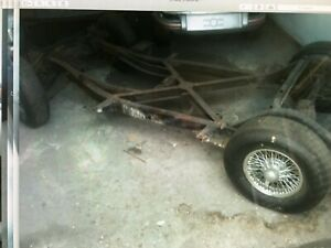 Corvette C1 1960 Frame chassis cal Clear Title With Wire Wheels And Tires