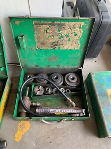 Greenlee 7310 Hydraulic Knockout Set 1 2 To 4 No 3