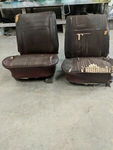 1964 1965 Gm Bucket Seats Chevelle Ss Gto Cutlass Skylark Gs 442 B Body Corvair
