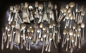 Old Vintage Flatware Silverware Silver Plate Mixed Lot Over 18 Lbs Wm Rogers