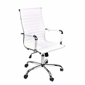 Elecwish adjustable Office Executive Swivel Chair High Back Padded Tall Ribbed